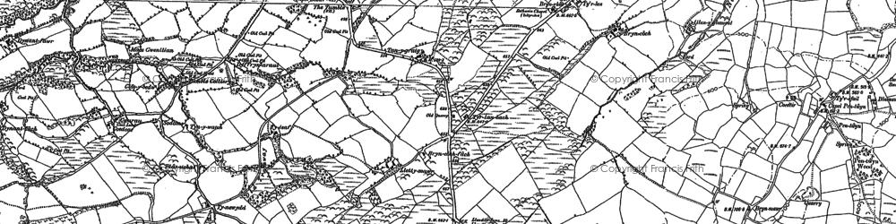 Old map of Blaenau in 1879