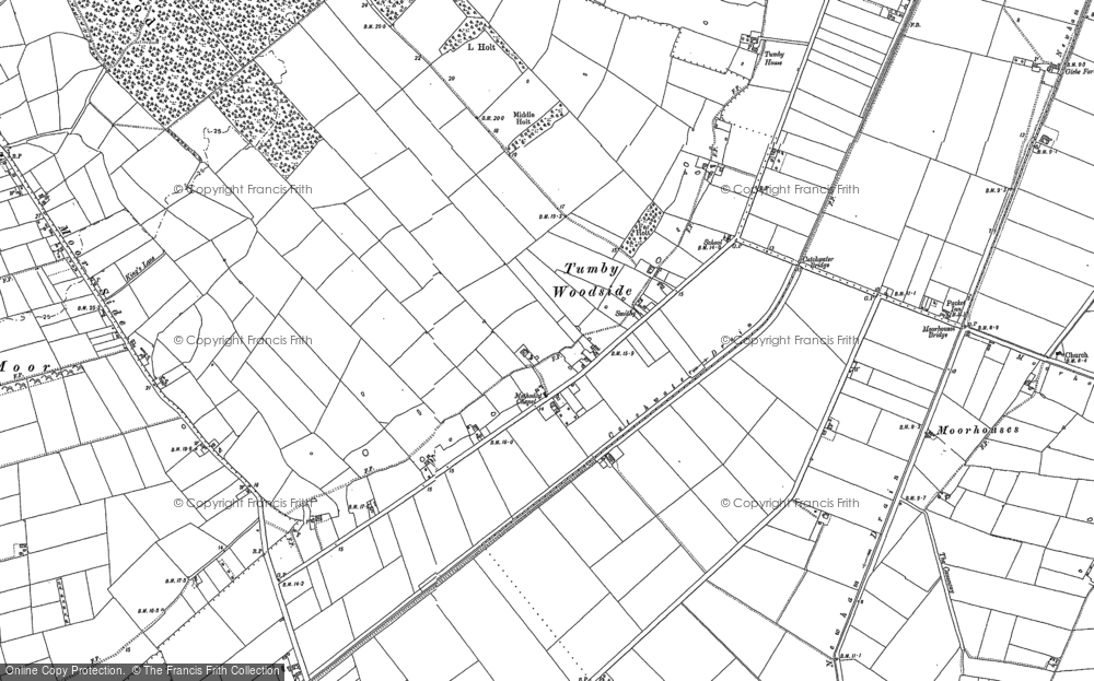 Old Map of Tumby Woodside, 1887 - 1888 in 1887