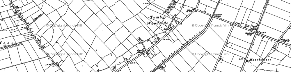 Old map of Tumby Woodside in 1887