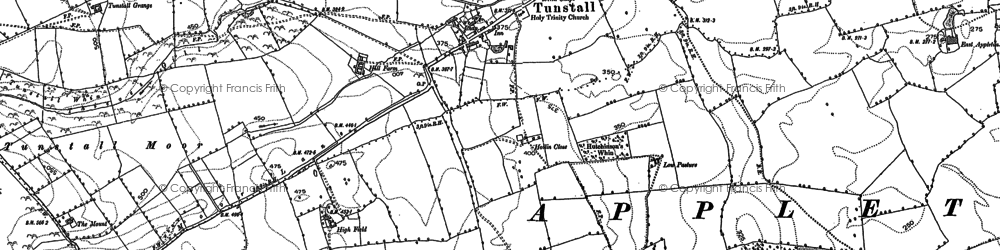 Old map of Tunstall in 1891