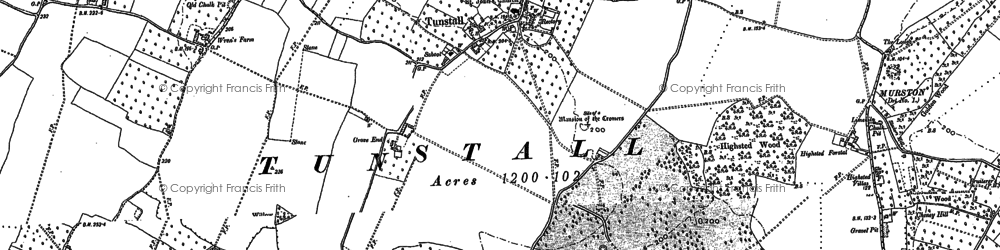Old map of Tunstall in 1896