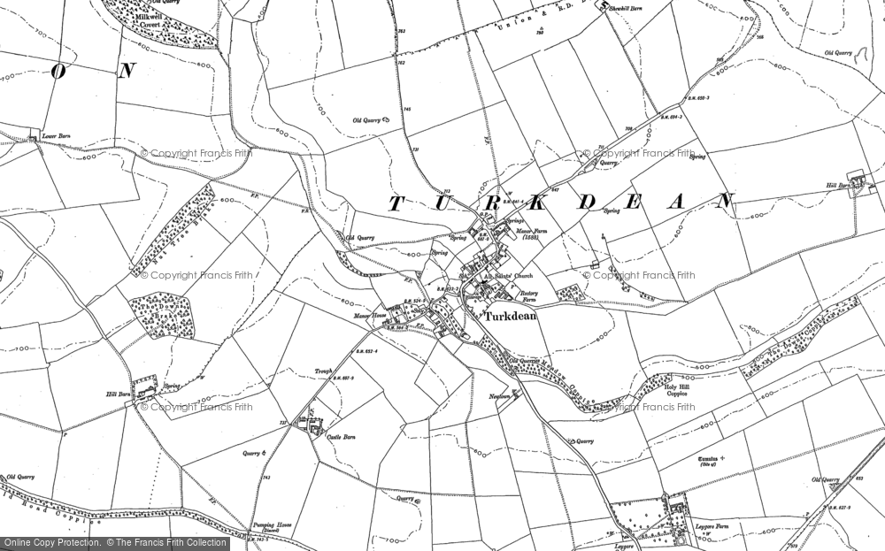 Old Map of Historic Map covering Leygore Manor in 1882
