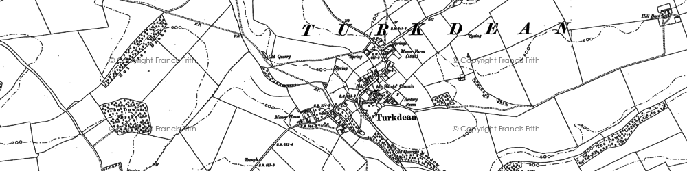 Old map of Leygore Manor in 1882
