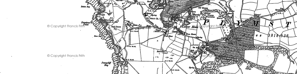 Old map of Turnchapel in 1905