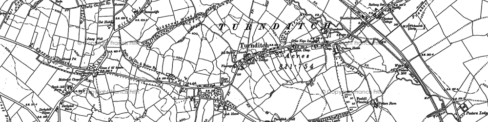 Old map of Lilies, The in 1879