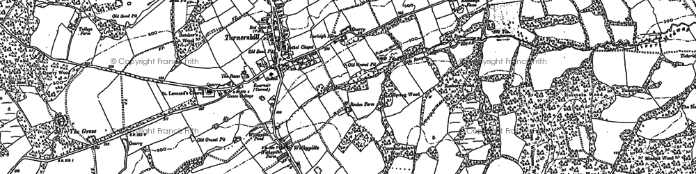 Old map of Turners Hill in 1896