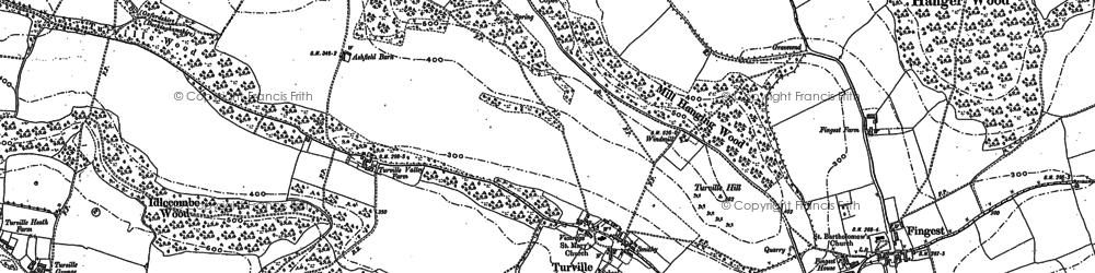 Old map of Ashfield Barn in 1897