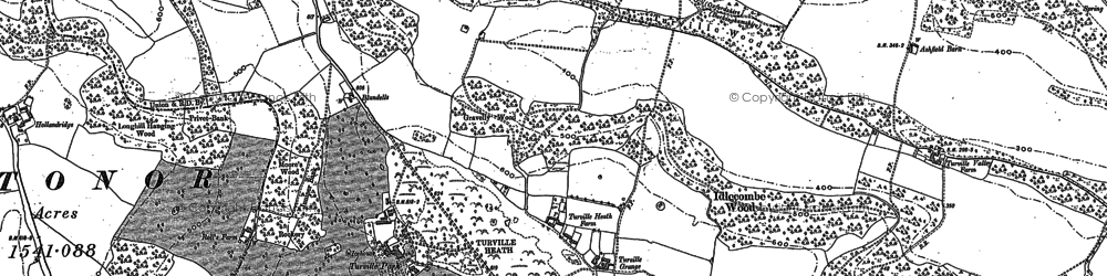 Old map of Turville Heath in 1897