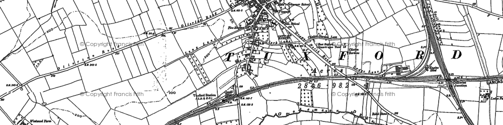 Old map of Westwood in 1884