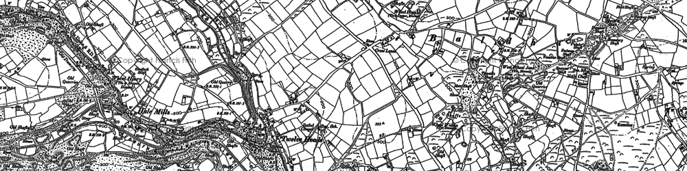 Old map of Hale Mills in 1879