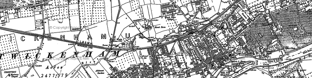 Old map of Twickenham in 1912