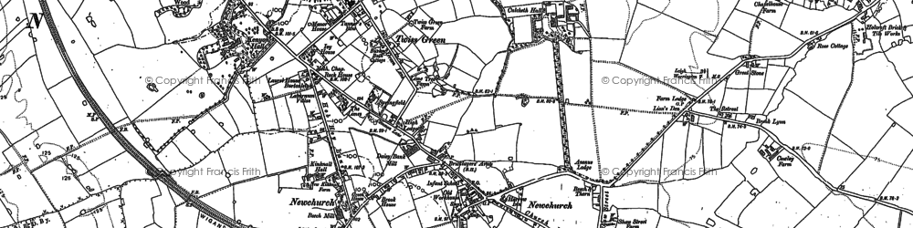 Old map of Twiss Green in 1892