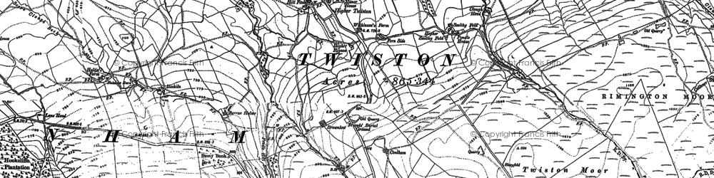 Old map of Whytha in 1907