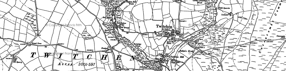 Old map of Whitcott in 1903