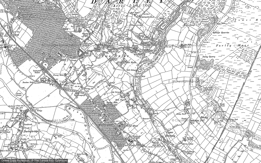 Map of Two Dales, 1879