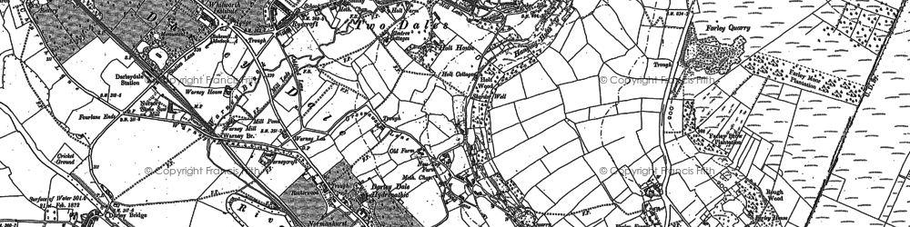 Old map of Two Dales in 1879