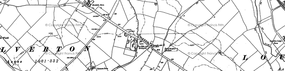 Old map of Two Mile Ash in 1898