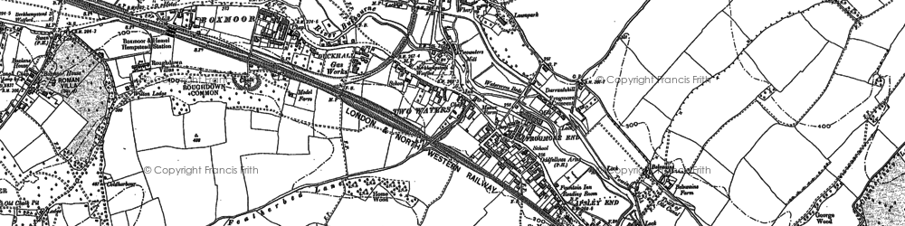 Old map of Counters End in 1897
