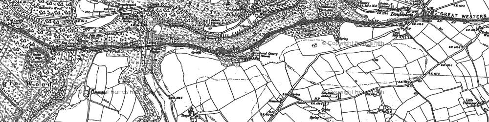 Old map of Drawbridge in 1881