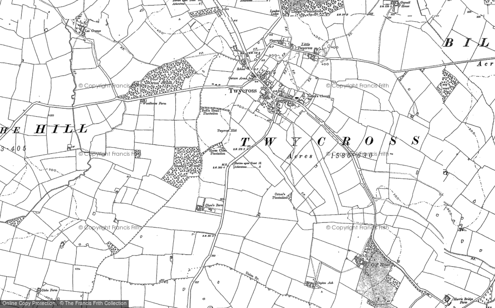 Old Map of Twycross, 1885 - 1901 in 1885