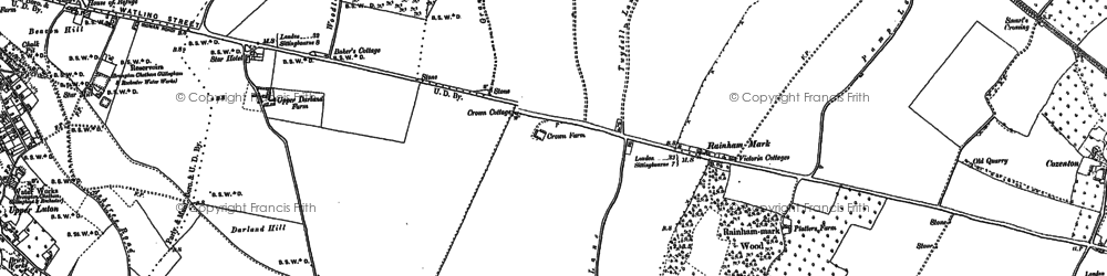 Old map of Ambley Wood in 1896