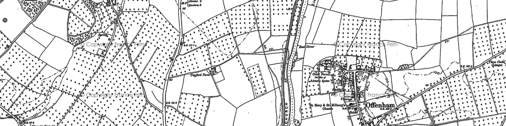 Old map of Leicester Tower in 1885