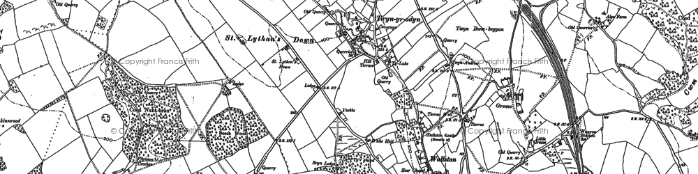 Old map of Balas in 1898