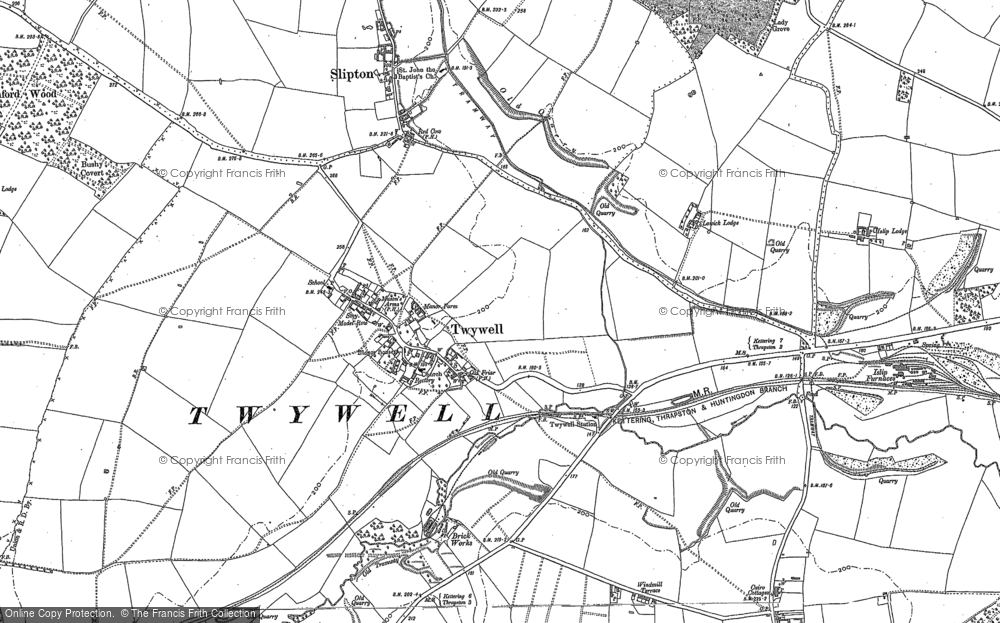 Old Map of Historic Map covering Woodford Ho in 1884