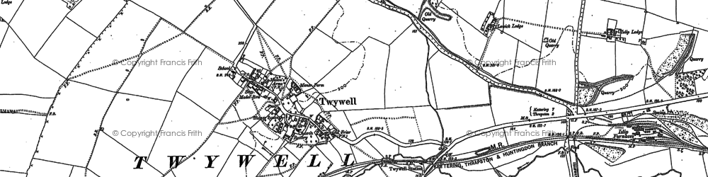 Old map of Woodford Ho in 1884