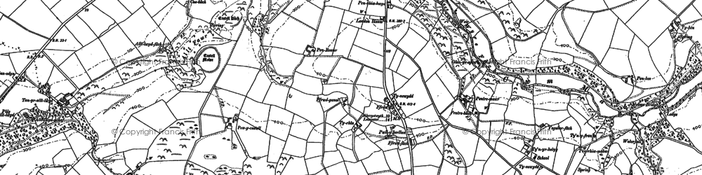 Old map of Wyre Fach in 1904