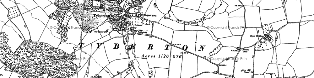 Old map of Tyberton in 1886