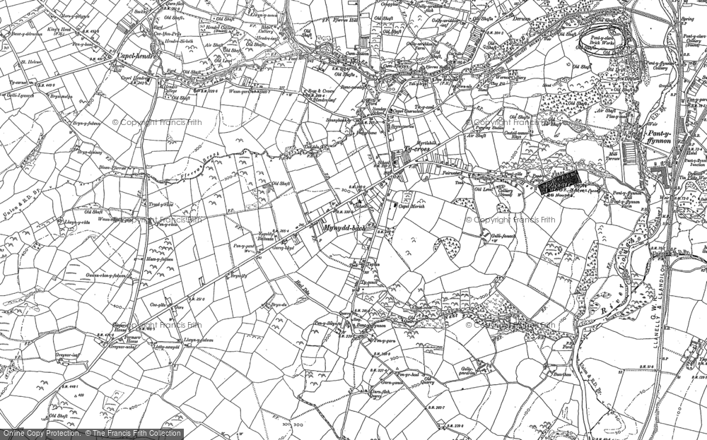Old Map of Tycroes, 1905 in 1905