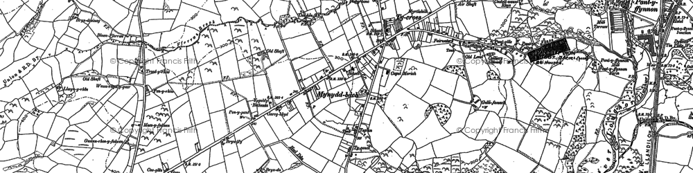 Old map of Tycroes in 1905