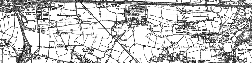 Old map of Tyldesley in 1891