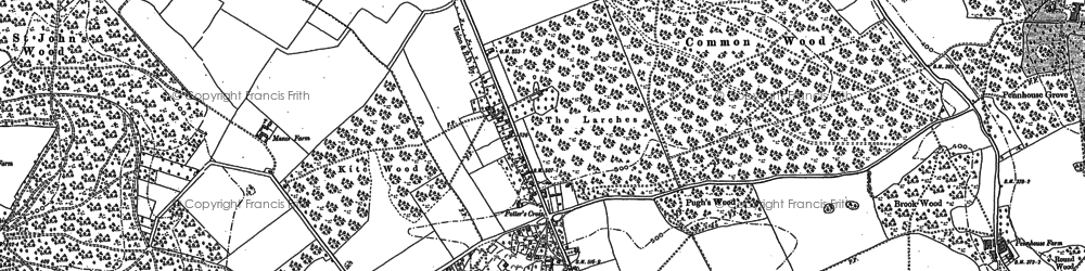 Old map of Beacon Hill in 1897