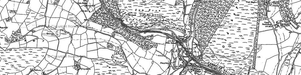 Old map of Alltlwyd in 1875