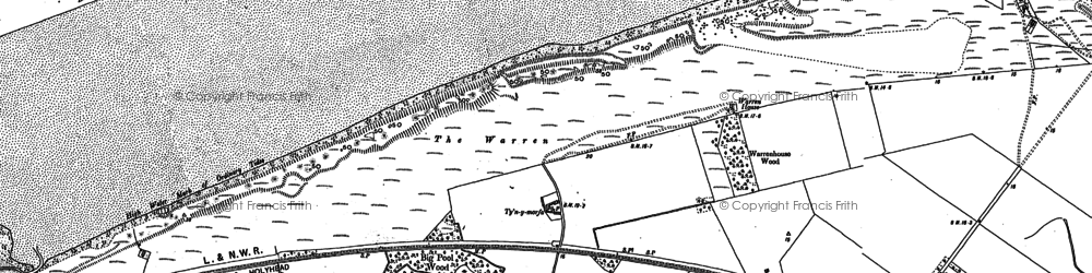 Old map of Tyn-y-Morfa in 1910