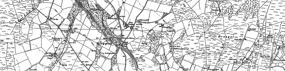Old map of Ynys-Morgan in 1886