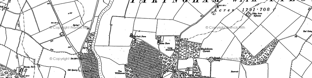 Old map of Tyringham in 1899