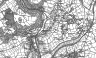 Old Map of Tywardreath Highway, 1881 - 1906