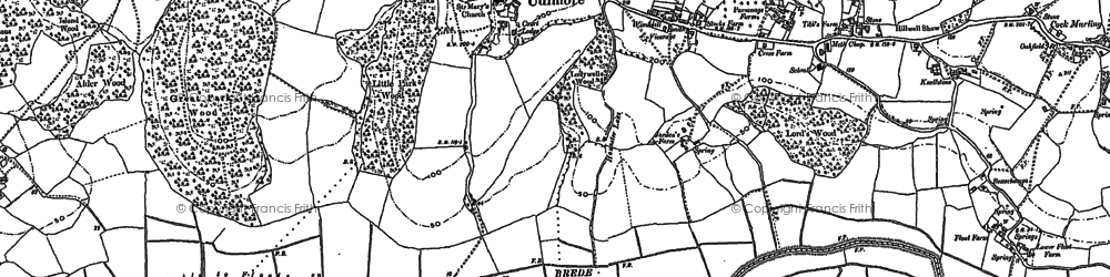 Old map of Udimore in 1872