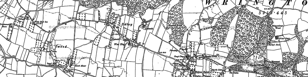 Old map of Woolmers in 1883