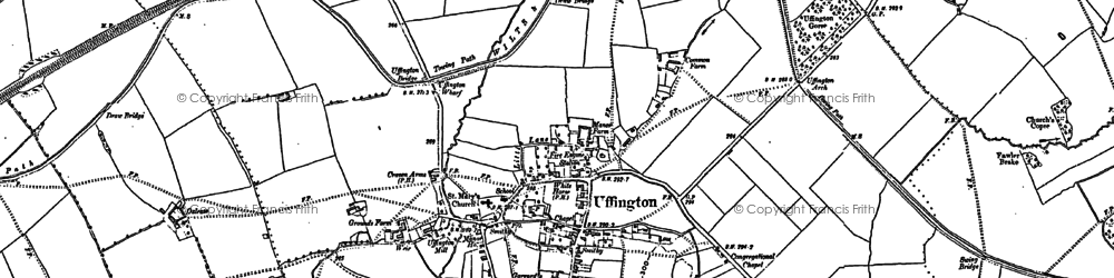 Old map of Uffington in 1898