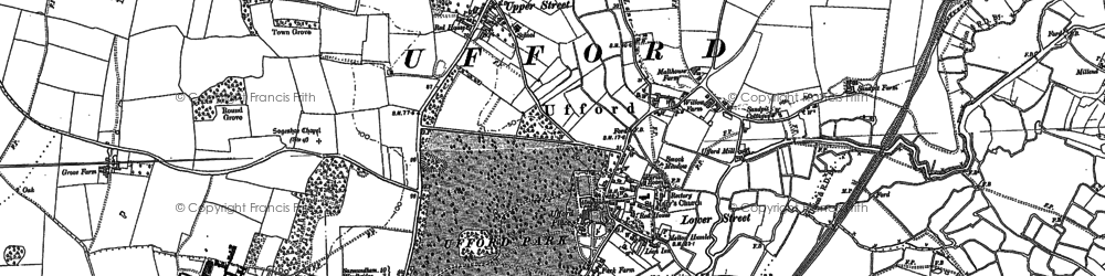 Old map of Ufford in 1881