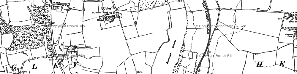 Old map of Quaremead in 1896