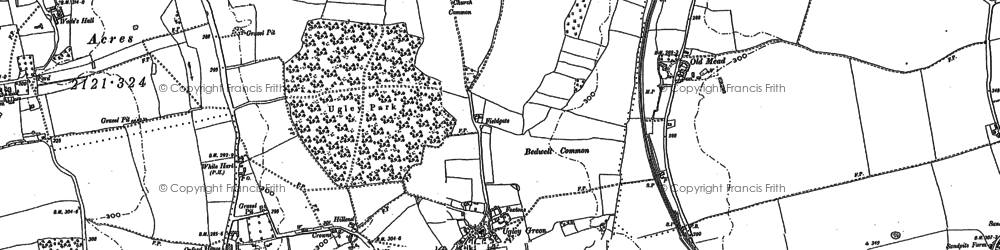 Old map of Alsa Wood in 1896