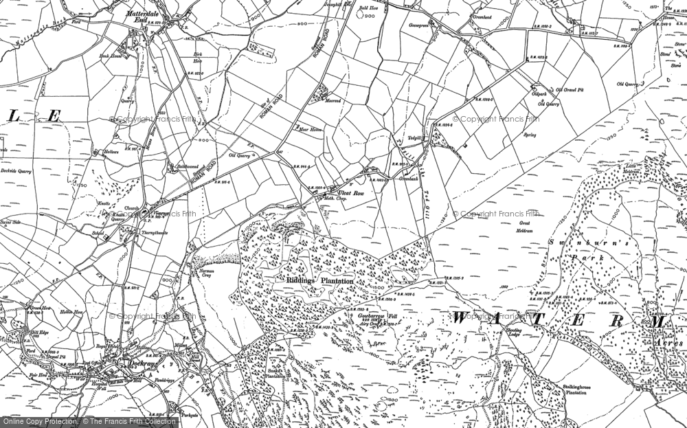 Old Map of Historic Map covering Bald Howe in 1898