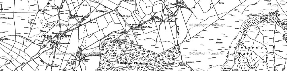 Old map of Bald Howe in 1898