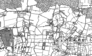 Old Map of Ulcombe, 1896