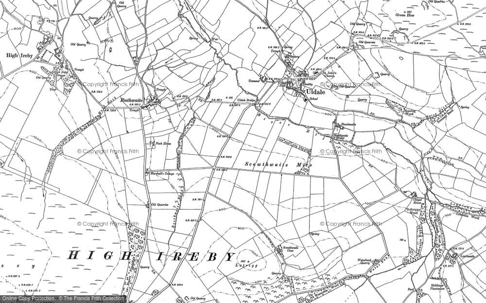 Old Map of Historic Map covering Baggra Yeat in 1899